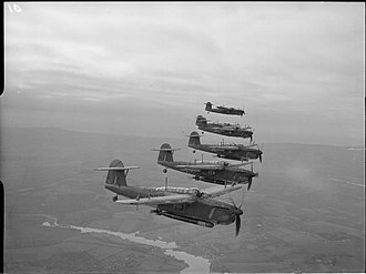 Torpedo bomber - A formation of Fairey Barracuda during WW2