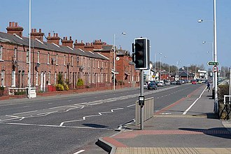Shore Road, Belfast - The Shore Road passing through the County Antrim townland of Whiteabbey