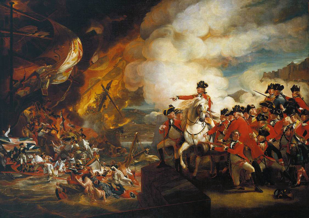 """The Defeat of the Floating Batteries at Gibraltar"" by John Singleton Copley"