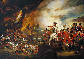 George Augustus Eliott, 1st Baron Heathfield - Defeat of the floating batteries by John Singleton Copley - climax of the Great Siege of Gibraltar in 1782. Elliot is on the white horse