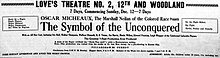 The Symbol of the Unconquered 1920 newspaperad.jpg