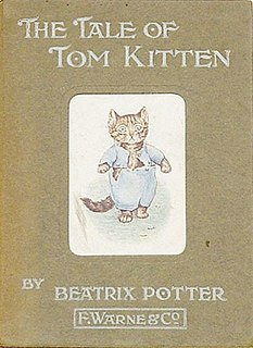 <i>The Tale of Tom Kitten</i> childrens book written and illustrated by Beatrix Potter