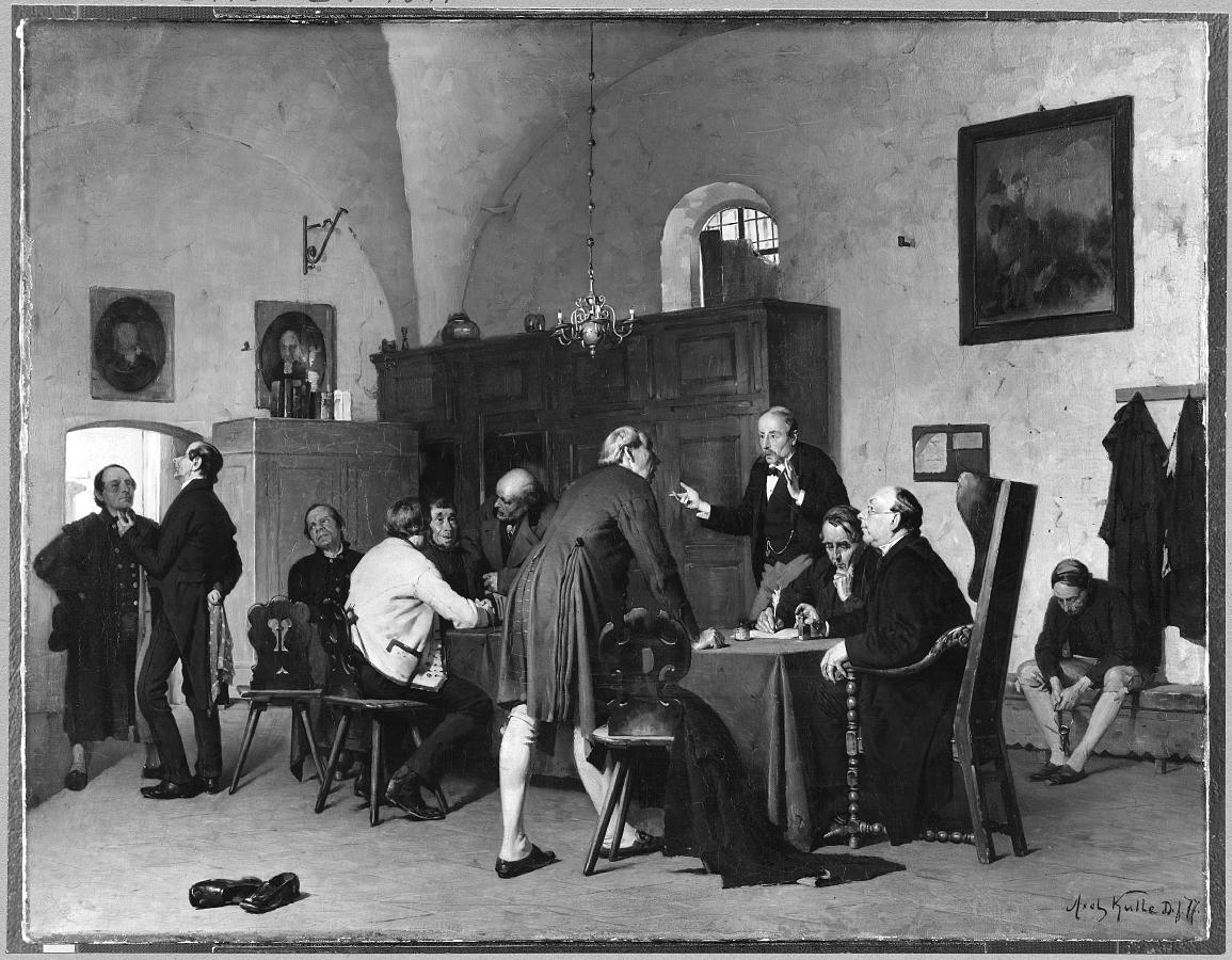 The Vestry Meeting. Motif from Germany
