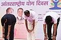 The Vice President, Shri M. Venkaiah Naidu performing Yoga at the 4th International Day of Yoga 2018 celebrations, in Mumbai (1).JPG