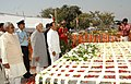 The Vice President, Shri Mohd. Hamid Ansari paying homage at the Samadhi of former President, Late Dr. Rajendra Prasad, on his death anniversary, in Patna on February 28, 2010 (1).jpg