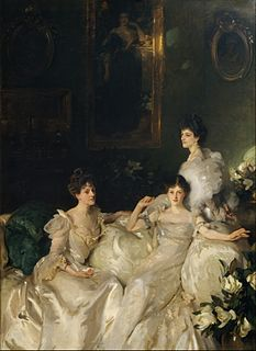 <i>The Wyndham Sisters: Lady Elcho, Mrs. Adeane, and Mrs. Tennant</i> painting by John Singer Sargent
