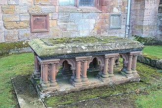 Francis Douglas, 8th Earl of Wemyss - The grave of the Earls of Wemyss, St Marys Collegiate Church, Haddington