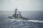 The guided missile destroyer USS Curtis Wilbur (DDG 54) operates in the Philippine Sea Aug. 18, 2013 130819-N-BX824-084.jpg