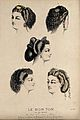 The heads of five women with ringletted hair dressed with je Wellcome V0019881ER.jpg