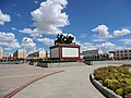 The main square of Wulanhua Town in Inner Mongolia, China.jpg