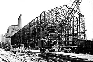 S-50 (Manhattan Project) - Image: Thermal Diffusion Process Building (F01) at S 50 under construction