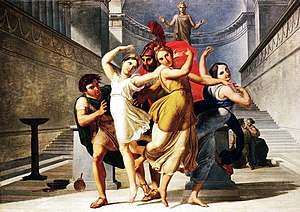 Pirithous - Image: Theseus and Pirithous abducting Elena, Pelagio Palagi (1775 1860)
