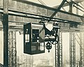 This is a photograph of an overhead gantry crane in operation in the East Yard of William Doxford & Sons Ltd, Pallion, c1930s. (11187433435).jpg
