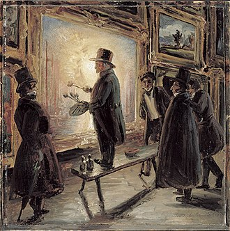 Thomas Fearnley - During a study trip to London in 1837, Fearnley painted J. M. W. Turner painting