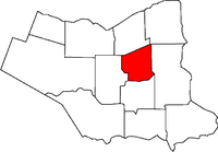 Location of Thorold in the Niagara Region