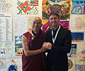 Thubten Wangchen Sherpa, the Dalai Lama's representative in Europe, with Grant Schreiber.jpg