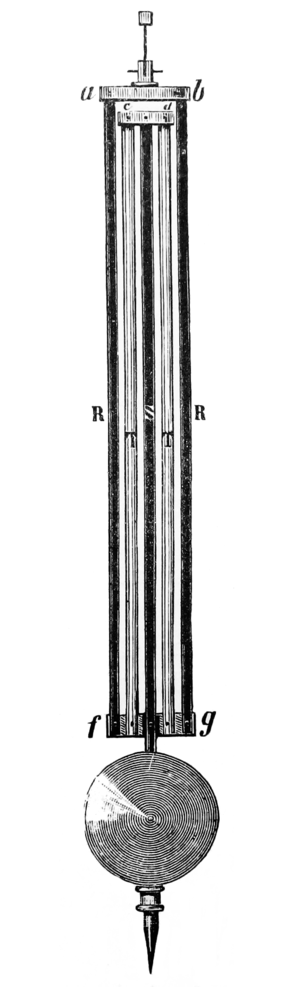 Gridiron pendulum - 5-rod zinc-steel gridiron