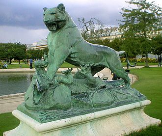 Auguste Cain - Image: Tigre et crocodile