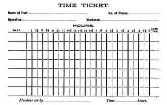 Frederick A. Halsey - Time ticket, 1891