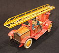 Tin toy fire truck, pic-017.JPG