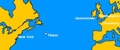 Vostok OR: une lointaine conséquence du naufrage du Titanic 400px-Titanicmap