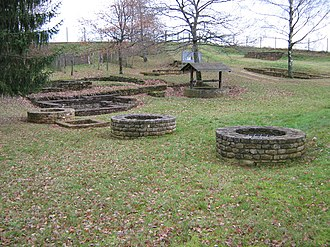 Titelberg - Titelberg: foundations in the residential area
