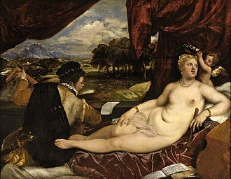 Venus and Musician - Fitzwilliam Museum, Cambridge, with lute-player and Cupid, c. 1555–65