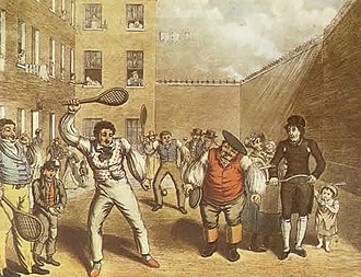 Rackets (sport) - A Toff playing with the rabble in prison