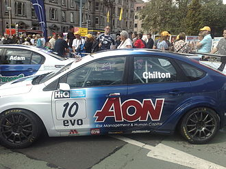 Arena Motorsport - Arena-run Ford Focus at the 2009 BTCC Festival in Edinburgh.