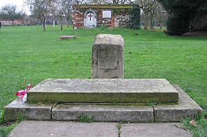 Waltham Abbey (town) - The Grave of King Harold Godwinson.