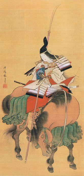 Tomoe Gozen - Tomoe Gozen, a drawing by Shitomi Kangetsu (1747–1797)