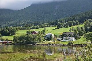Tomrefjord Village in Western Norway, Norway