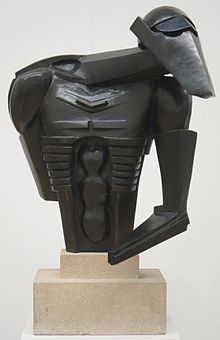 Torso in Metal from 'The Rock Drill' by Jacob Epstein, Tate Britain.JPG