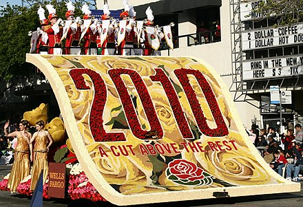 "Theme float ""2010: A Cut Above the Rest"" rolling down Colorado Boulevard during the parade Tournament of Roses Parade 2010 Float.jpg"