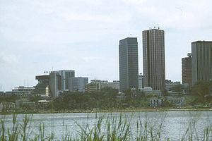 Abidjan - Some buildings in the Plateau