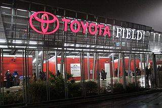 Toyota Field soccer-specific stadium in San Antonio, Texas, USA