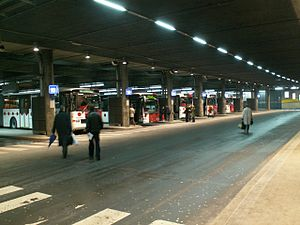 Canton of Fribourg - Transports publics Fribourgeois bus station in Fribourg