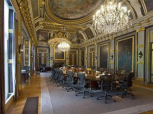Theodor van der Schuer - Trêveszaal with ceiling by Theodor van der Schuer
