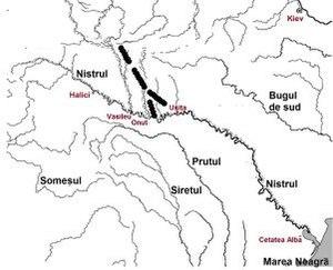 Trajan's Wall - Image: Trajan wall in Bucovina. Valul lui Traian in Bucovina