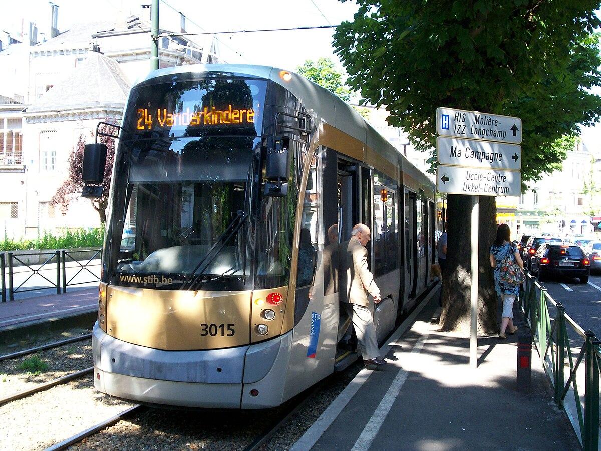 Ancienne ligne 24 du tram de bruxelles wikip dia for Piscine bruxelles