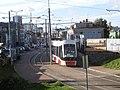 Tram 513 at Lubja Tram stop in Tallinn 2 October 2015.jpg