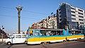 Tram in Sofia near Sofia statue 2012 PD 040.jpg