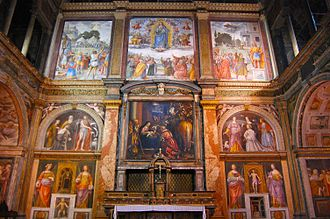 Silent preaching - 16th century frescoes by Bernardino Luini at the church of San Maurizio al Monastero Maggiore, Milan.