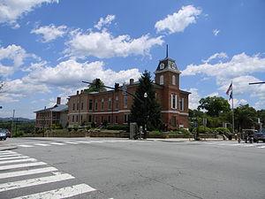 Main Street Historic District (Brevard, North Carolina) - Transylvania County Courthuse in the Main Street Historic District, June 2012