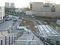 Travaux T8 - Nov 2012 - Villetaneuse - Station Universite - Emplacement de la station T8 vue depuis la passerelle.JPG