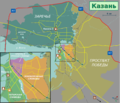 Travel map of Kazan (Wikivoyage style).png