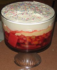 Trifle With Angel Food Cake And Jello