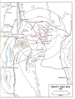 Trinity (nuclear test) - Map of the Trinity Site