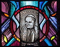 Tullow Church of the Most Holy Rosary South Transept Window Mysteries of Light and Pope John Paul II Detail Pope John Paul II 2013 09 06.jpg