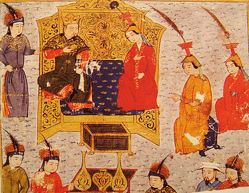 Clothing of the Mongol nobles. TuluiWithQueenSorgaqtani.jpg